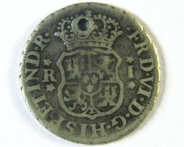 ANCIENT SPAIN L1, PERU ONE REALE 1757 AC246
