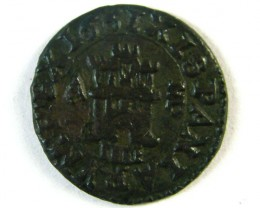 ANCIENT SPAIN L1, PHILIP IV 1621-1665 AE4 MARAVEDIS AC259