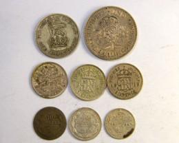 SILVER COINS  ..500 SILVER WORLD COINS .70 PER GRAM  OP235