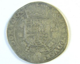ANCIENT SPAIN L1, 1/4 PATAGON 1598-1621 NETHERLANDS AC271