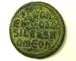 ANCIENT BYZANTINE L1, LEO VI FOLLIS COIN AC317
