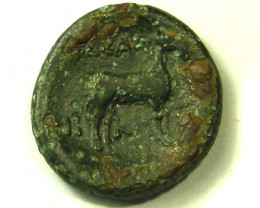 ANCIENT GREEK L1, THESSALONICA MACEDON COIN AC345