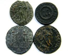 PARCEL FOUR FINE CONDITION  ROMAN COIN AE  AC 352