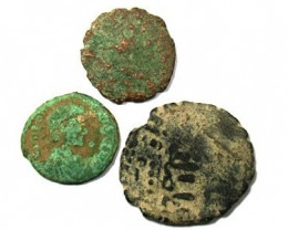 FUN  PARCEL OF 3  ANCIENT COINS  T 47