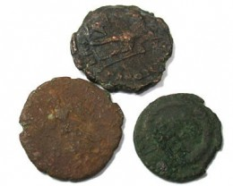 FUN PARCEL OF 3 ANCIENT COINS  TO CLEAN T 60