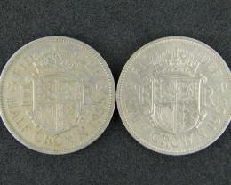 GREAT BRITIAN LOT 2, HALF CROWN 1963 COINS T536