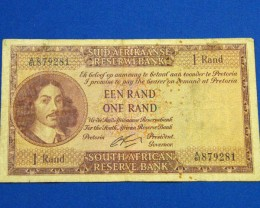 SOUTH AFRICAN ONE RAND NOTE         T 879