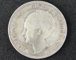 WORLD COINS OLD DUTCH COIN 1929 ONE GULDEN T 322
