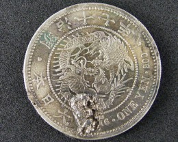 WORLD COINS SILVER .900 JAPAN 1916