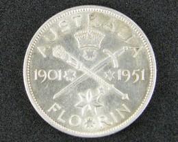 FLORIN  1951  COIN  SILVER 80%  T 341