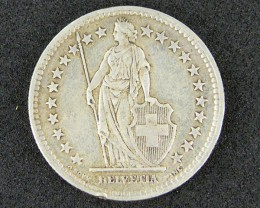 SWISS COIN  835 SILVER  1946 2 FR   T 859