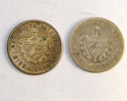 SILVER .900 CUBA  COINS  $1.20  PER GRAM  OP 257