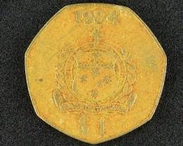 SAMOA  1984 ONE DOLLAR          T 382