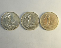 SILVER .900 RUSSIA COINS    OP 256
