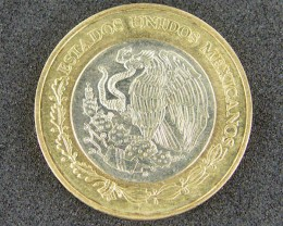 MEXICO BI METAL 10 DOLLAR   T 385