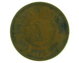 STRAITS SETTLEMENT 1901    ONE CENT  T  402
