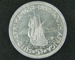 SOUTH AFRICA 5 SHILLING  1952  T 406