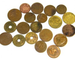 BULK LOT COINS  BRASS ,COPPER  87 GRAMS         T453