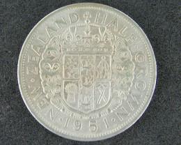 New Zealand 1951 Half Crown (EF)(A)                   T 45