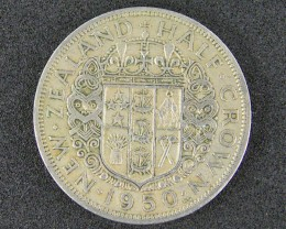 NEW ZEALAND HALF CROWN   1950                       T 462