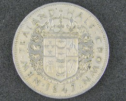 NEW ZEALAND HALF CROWN    1947                      T 465