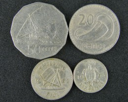 FIJI FOUR COINS 1962 TO 1987    T 494