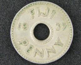 FIJI ONE PENNY 1937   T 497