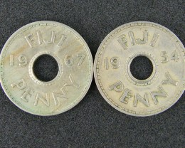 FIJI LOT 1, ONE PENNY  COIN 1967 T507