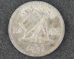 FIJI LOT 1, ONE SHILLING COIN 1943 T509