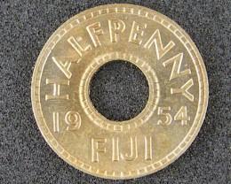 FIJI LOT 1, HALF PENNY COIN 1954 T511