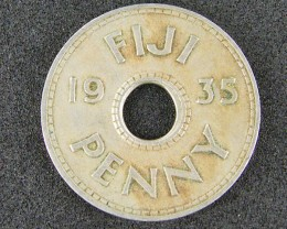 FIJI LOT 1, ONE PENNY COIN 1935 T512