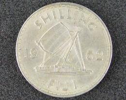 FIJI LOT 1, 1962 SHILLING COIN T514