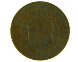 SPAIN LOT  1, FIVE CENT 1877 COIN T528