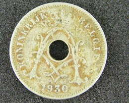 BELGIUM LOT 1, 1930 TEN CENT COIN T554