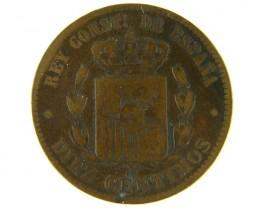 SPAIN LOT 1, 1877 TEN CENT COIN T556