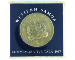 COMMEMORATIVE CROWN LOT 1, WESTERN SAMOA 1967 COIN T562