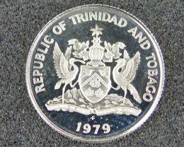 TRINIDAD & TOBAGO LOT 1, TEN CENT 1979 COIN T596
