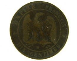 FRANCE LOT 1, DIX CENT 1854 COIN T598