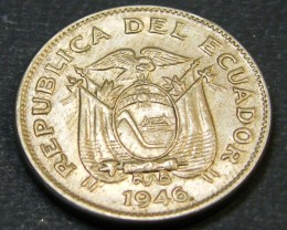 ECUADOR LOT 1, TEN CENT 1946 COIN T608