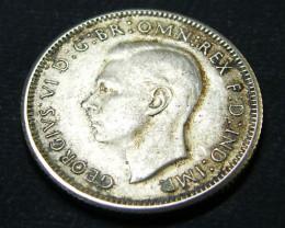 AUSTRALIA LOT 1, ONE SHILLING 1946 COIN 500   SILVER T614