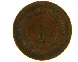 STRAITS SETTLEMENT LOT 1, ONE CENT 1901 COIN T628