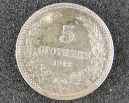 1, FIVE CTOTHHKM 1913 COIN T636