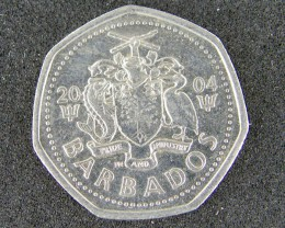BARBADOS LOT 1, ONE DOLLAR 2004 COIN T646