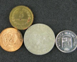 SOUTH AMERICA LOT 4, 1963-1985 5,1,3 CENT, 1 INTI COIN T660