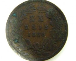 PORTUGAL COIN   1883      OP305