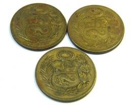 PERU LOT 3, 1/2 SOL DE ORO COIN T666