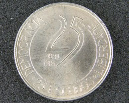PORTUGAL LOT 1, TWENTY-FIVE ESCUDOS COIN T670