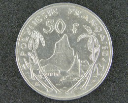 POLYNESIA LOT 1, FIFTY FRANC 1967 COIN T677