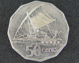 FIJI LOT 1,  FIFTY CENT 1990 COIN T699