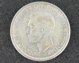 AUSTRALIA LOT 1, SHILLING 1946 COIN 800  SILVER T719